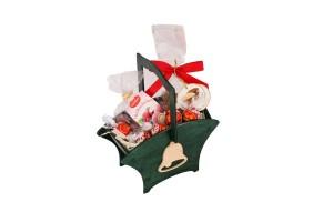 Zestaw świąteczny nr 14 Koszyczek z dzwoneczkiem