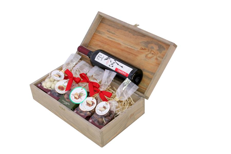 Zestaw świąteczny nr 18 Skrzynka z czerwonym winem