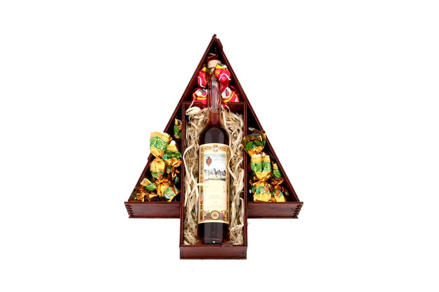 Zestaw świąteczny nr 30 Skrzyneczka z Nalewką Staropolską