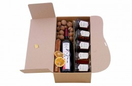 Zestaw świąteczny nr 68A Pudełko z czerwonym winem