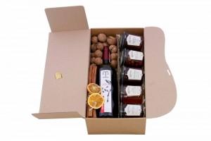 Zestaw świąteczny nr 36 Pudełko z czerwonym winem