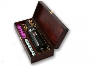 Zestaw świąteczny nr 36 Skrzynka z czerwonym winem