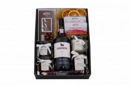 Zestaw świąteczny nr 73A Pudełko z obwolutą z winem Porto