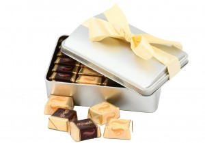 Zestaw świąteczny nr 4 Puszka z czekoladkami