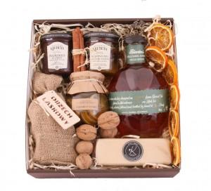 Zestaw świąteczny nr 40 Pudełko z aplikacją z Bourbonem