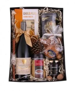 Zestaw świąteczny nr 39 Pudełko z aplikacją z winem