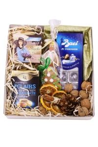 Zestaw świąteczny nr 49 Perłowe pudełko z czekoladkami