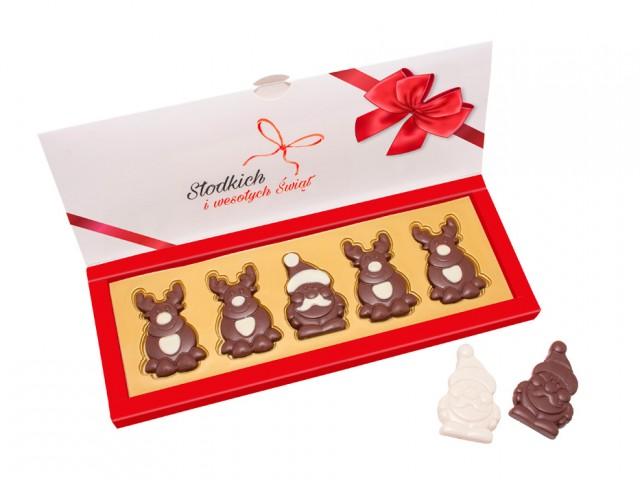 Nr kat.: 21.36 Zestaw czekoladek Mikołaj i jego renifery